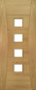 Deanta Pre-Finished Oak Pamplona Clear Glazed Door